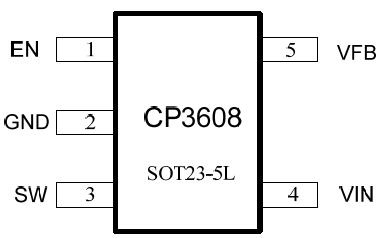 cp3608- 5v 800ma同步降压型稳压器